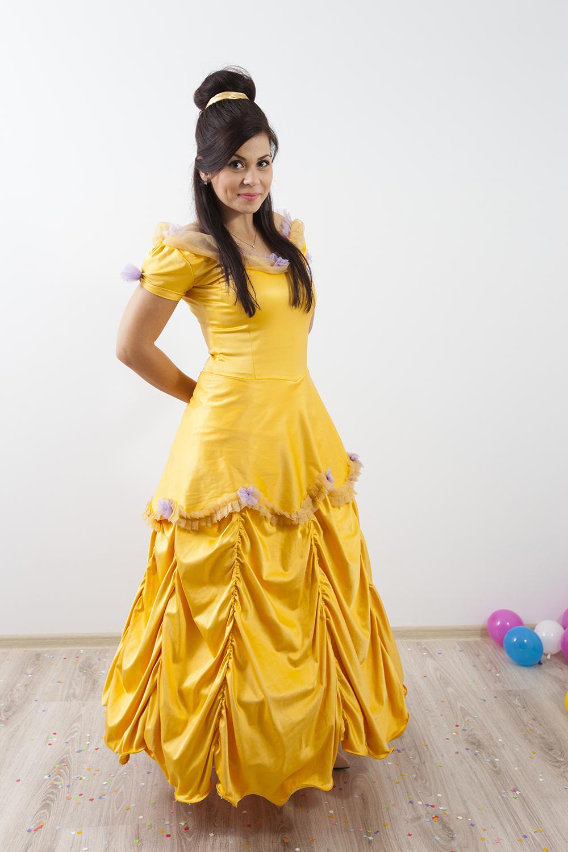 """Belle din povestea """"Frumoasa si bestia"""", personaj la petreceri pentru copii in Iasi"""