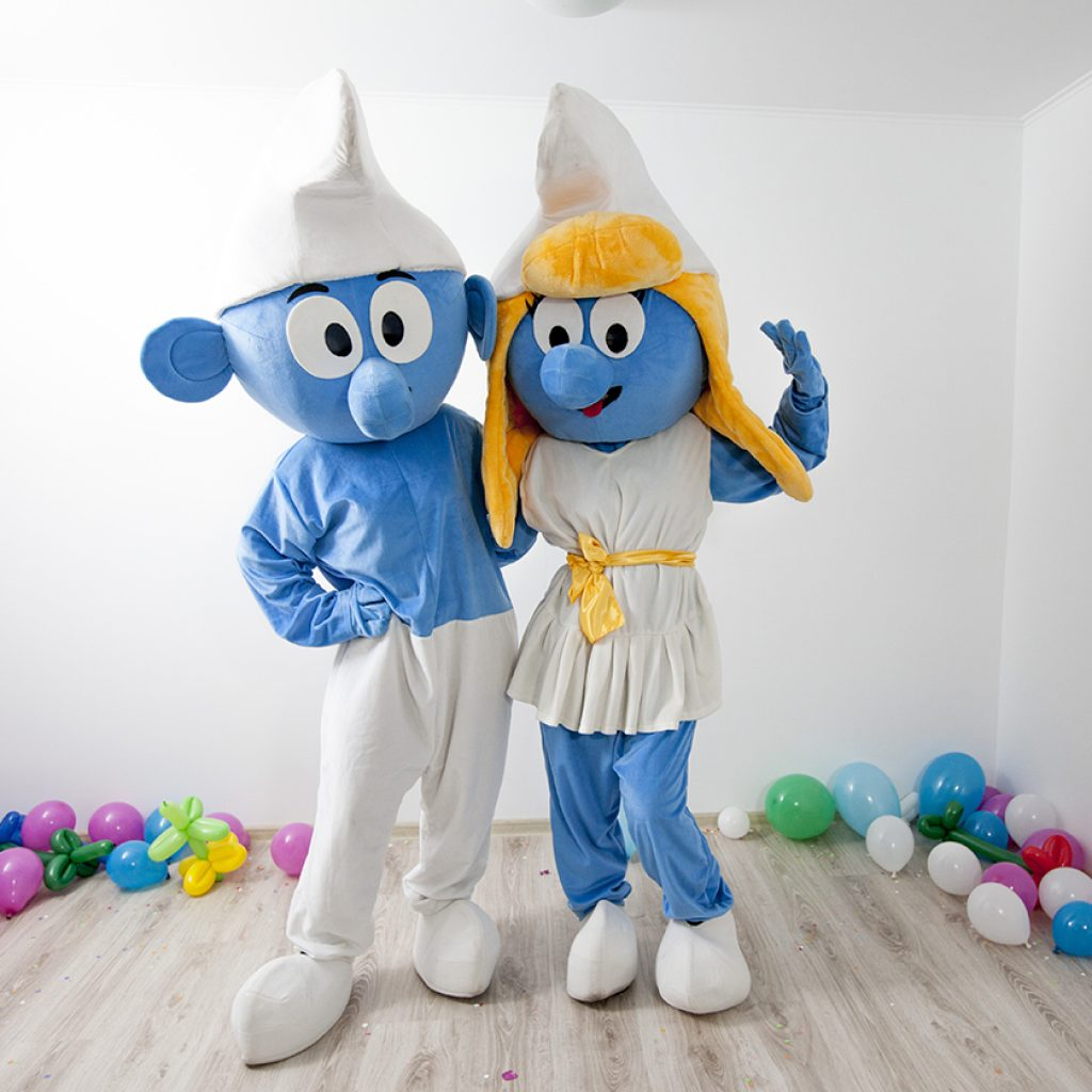 Strumf si Strumfita Mascote pentru petreceri in Iasi