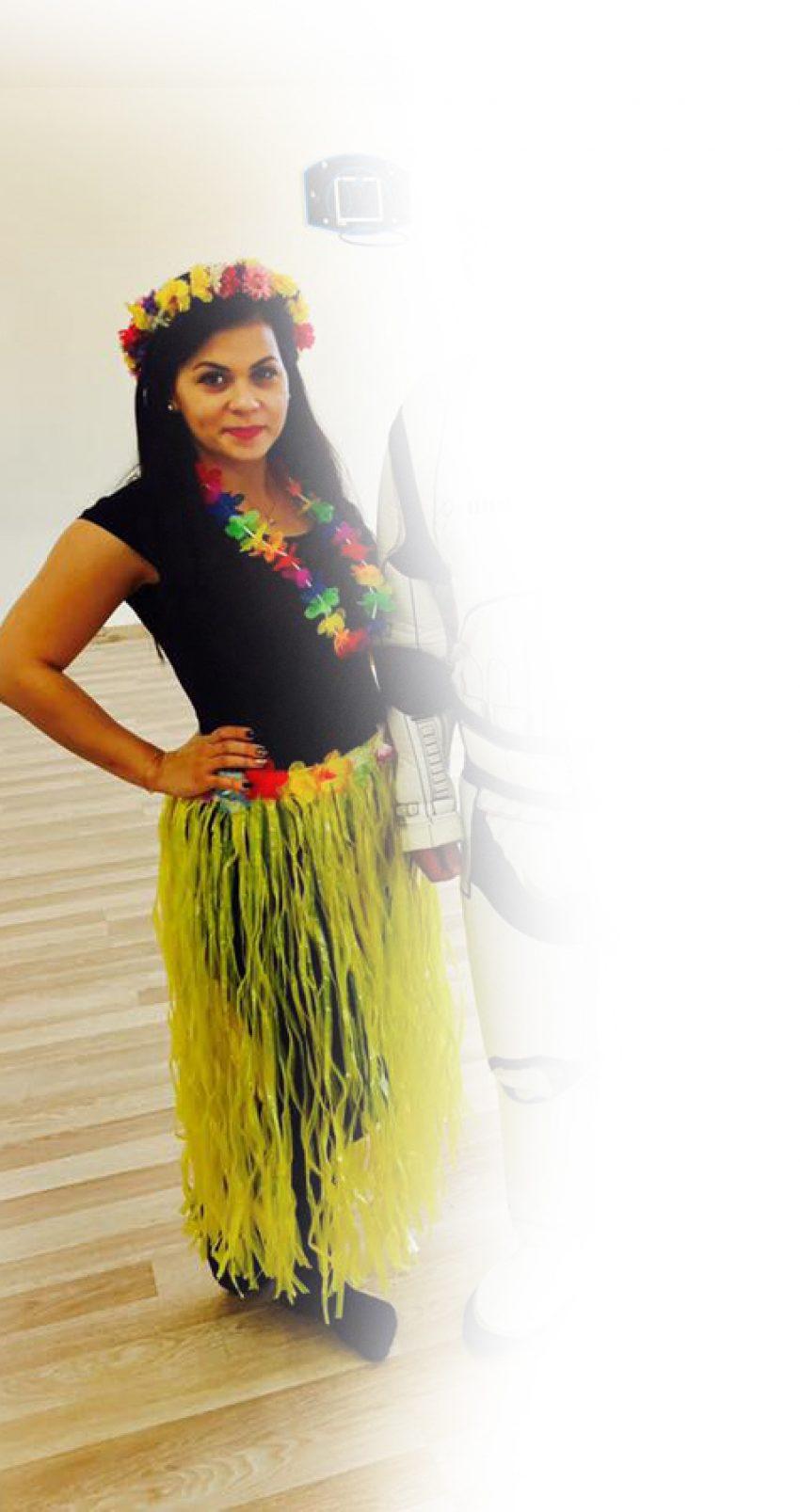 Fata Hawaiana - personaj improvizat la petreceri pentru copii in Iasi