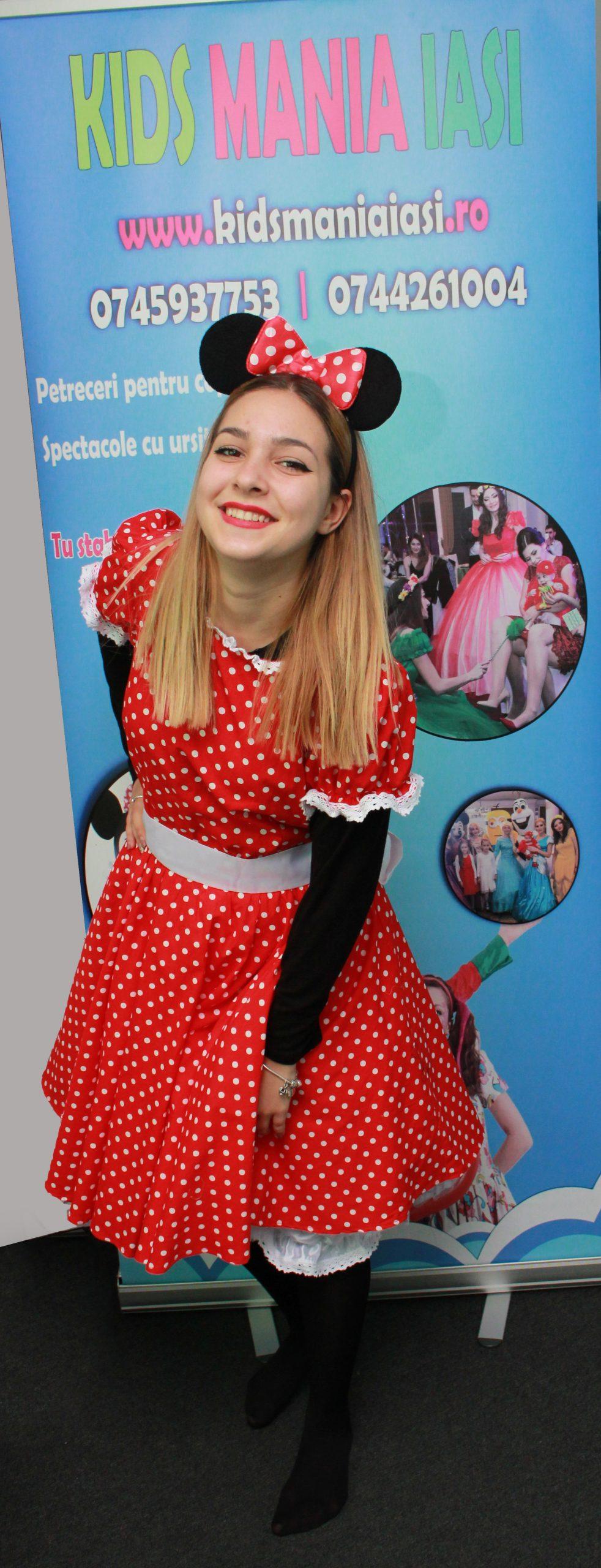 Minnie Mouse costum varianta fara masca pe fata